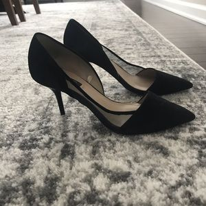 Zara 38 heels with mesh and suede